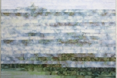 Losing Sight by Elena Stokes - Stitched textile collage, cottons, machine quilted - 43.5 x 32 inches