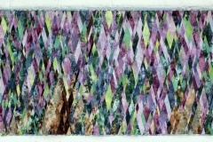 Wisteria by Elena Stokes - Cottons, machine pieced, hand quilted - 39 x 72 inches
