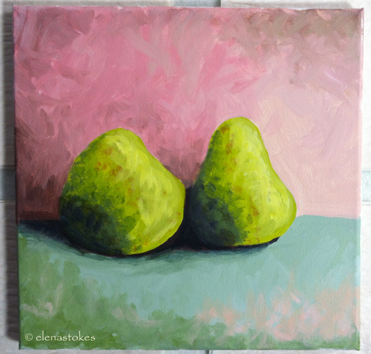 Pears under-painting