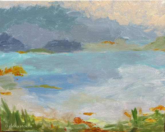 Somes Sound under painting